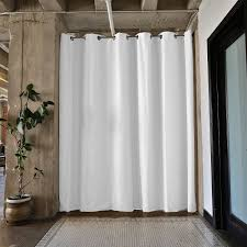 amazon com roomdividersnow premium tension curtain rod 80in