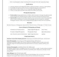 Sample Resume Photographer Download Freelance
