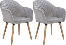 woltu esszimmerstühle bh95hgr 2 2er set küchenstuhl wohnzimmerstuhl polsterstuhl design stuhl mit armlehne sitzfläche aus samt gestell aus