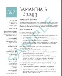 Professional Resume Samples Personal Information And Names Changed For Privacy Reasons