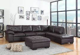 Buchannan Faux Leather Sectional Sofa by 2 Pc Emily Ii Collection Espresso Faux Leather Sectional Sofa Set