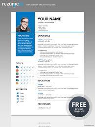 free creative resume templates docx bayview stylish resume template