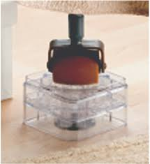 bed risers clear set of 8 in under bed storage