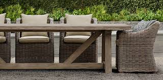 Teak Collection 8 Sizes Shown In Weathered With Provence Chairs