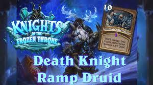 hearthstone death knight r druid knights of the frozen