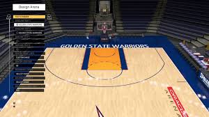 NBA 2K16 Custom Court Tutorial 2007 Golden State Warriors Oracle Arena