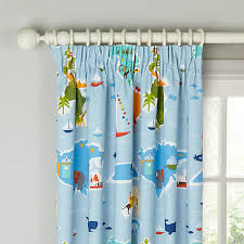 Teal Blackout Curtains Pencil Pleat by Buy Little Home At John Lewis Globe Trotter Pencil Pleat Blackout