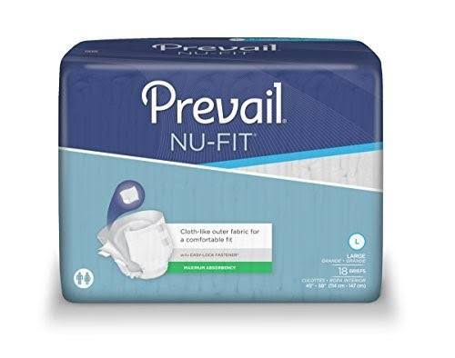 Prevail Nu-Fit Adult Diapers - Large, 18 Briefs