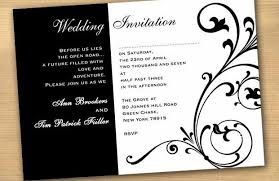 Something Really Simple Like Black And White Wedding Invitations This Is One Thing That You Can Definitely Start With