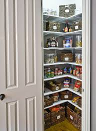 Kitchen Small Corner Pantry Closet Design With White Shelf And Rattan Wickers Also Door Organizers Clever 14053964272826 Designs Pictures