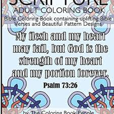 Scripture Adult Coloring Book Bible Containing Uplifting Verses And Beautiful Pattern Designs