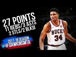 Giannis Antetokounmpo Full Highlights 2017 12 08 vs Mavs 27 Pts
