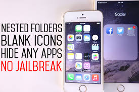 How To Create Nested Folders Blank Icons & Hide Stock Apps on iOS