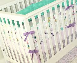 Coral And Mint Crib Bedding by Mermaid Crib Bedding Ocean Baby Bedding Set Mermaid
