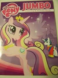 My Little Pony Friendship Is Magic Jumbo Coloring Activity Book Princess Cadance Shining Armor