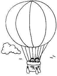 Pin Drawn Hot Air Balloon Coloring Page 14