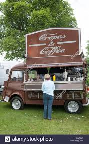 A Crepes And Coffee Van At Blenheim Palace Flower Show UK
