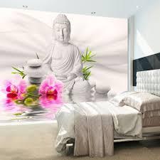 100x70 cm fototapete buddha und orchideen