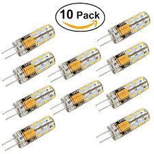 leorx led g4 2 watt 12v ac dc pack of 10 bulbs best bargain hub