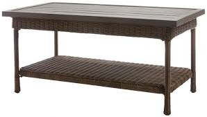 Relax In Style And Sophistication Enjoy The Outdoors With Beacon Park Coffee Table A Sturdy Rust Resistant Frame Supports Intricately Woven