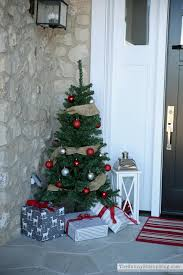 Pre Lit Porch Christmas Trees by Porch Trees For Christmas 5681