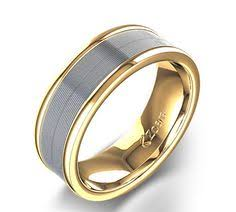 Two Tone Wedding Bands Collection rings Pinterest