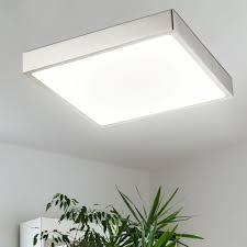 deckenpanel led dimmbar led rasterleuchten deckenleuchte flach rechteckig aufbau nickel matt weiß 22 watt 1980 lumen neutralweiß l 17 cm