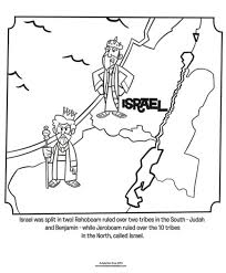 Israel Divided Kingdom Coloring Pages