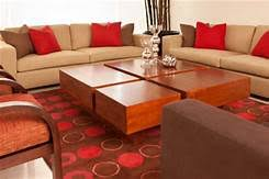 Living Room Colors Rustic Red And Brown