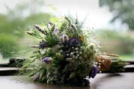 Mentha Astrantia Lavender And Gypsophila Rustic Hand Tied Bouquet