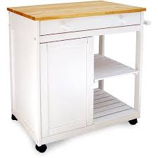 Preston Hollow Kitchen Cart White Walmart