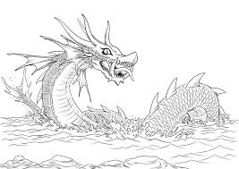 Look Free Coloring Pages Of Fire Sea Dragon Easy