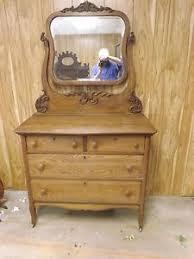 antique tiger oak dresser w mirror ebay
