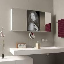 spiegelschrank mit glastür aus lacobel badspiegel shop