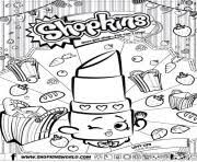 Shopkins Lippy Lips Coloring For Kids Pages