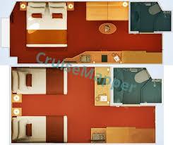 Carnival Splendor Panorama Deck Plan by Carnival Splendor Cabins And Suites Cruisemapper