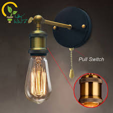pull chain switch loft adjustable industrial metal vintage wall