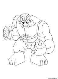 Lego Marvel Coloring Pages Super Hulk Printable Picture