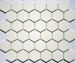 2 inch lyric unglazed porcelain hexagon tile in ivory