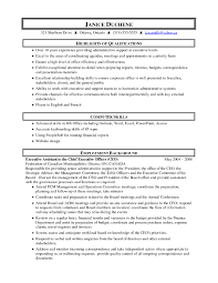 Best Executive Assistant To Ceo Resume With Additional Of