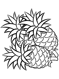 Pineapple Fruits Coloring Pages 11