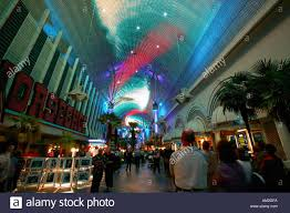 Laser light show in Downtown Las Vegas Nevada Stock Royalty