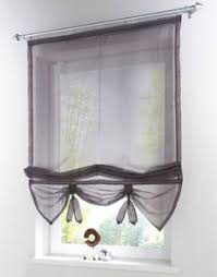 Brylane Home Kitchen Curtains by Diy Balloon Curtain Buy One Inexpensive Sheer Panel Sew Two Rows