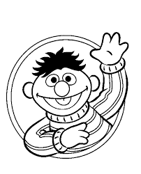Sesame Street Ernie Coloring Picture For Kids