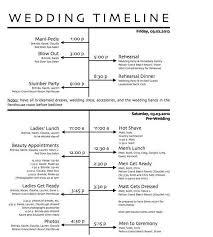 Free Wedding Day Timeline Printables