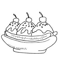 Impressive Banana Split Coloring Page Best Pages Ideas For Children