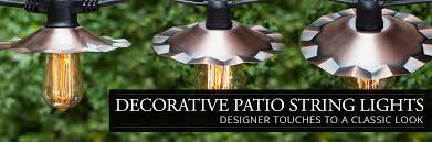 String Lights For Patio by Decorative Patio String Lights Yard Envy