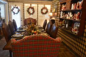 I Love Mrs Ralphs Breakfast Room It Is Huge Eight Can Easily Sit At Her Table The Tartan Wingback Chairs Each End Of Make Me