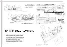 100 Barcelona Pavilion Elevation Mies Van Der Rohe