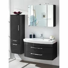 badezimmer set rimao 100 hochglanz anthrazit 100cm waschtisch b x h